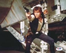 Harrison Ford Star Wars Signed 8x10 Photo Auto Graded Perfect 10! Psa #u01299