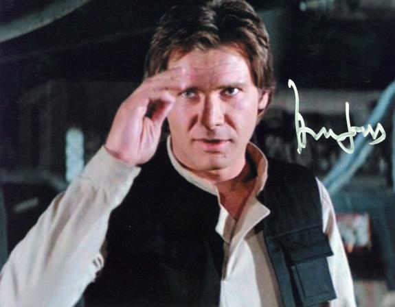 Harrison Ford Star Wars Signed 8x10 Photo Autographed BAS #A32494