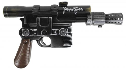 Harrison Ford Star Wars The Force Awakens Signed Blaster Pistol BAS #A11539