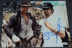 "Harrison Ford Steven Spielberg Signed ""indiana Jones"" 11x14 Photo Psa/dna V04627"