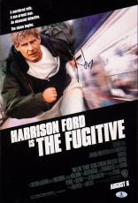 Harrison Ford The Fugitive Signed 12x18 Mini Movie Poster BAS #A02014