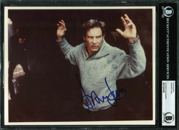 Harrison Ford The Fugitive Signed 8x10 Photo 1990's Vintage Full Name! BAS Slab