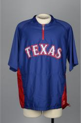 HARRISON, MATT PLAYER WORN SPRING TRAINING JACKET - Mounted Memories
