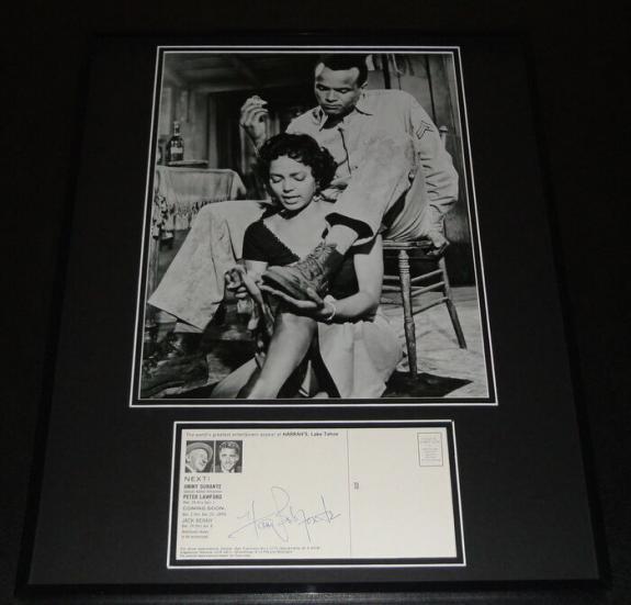 Harry Belafonte Signed Framed 16x20 Photo Display JSA