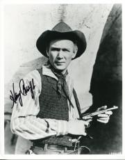 Harry Carey Jr Cowboy Movie Actor John Wayne Co-star Signed B&w Photo Autograph