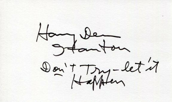 Harry Dean Stanton Alien Big Love The Green Mile Pretty in Pink Signed Autograph