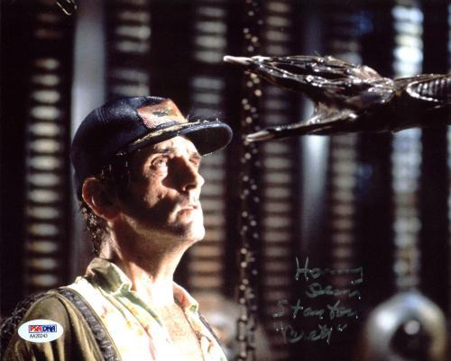 "Harry Dean Stanton Alien ""Brett"" Signed 8x10 Photo PSA/DNA #AA20243"