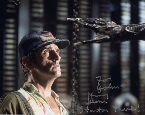 HARRY DEAN STANTON HAND SIGNED 8x10 COLOR PHOTO+COA       ALIEN      TO JOHN