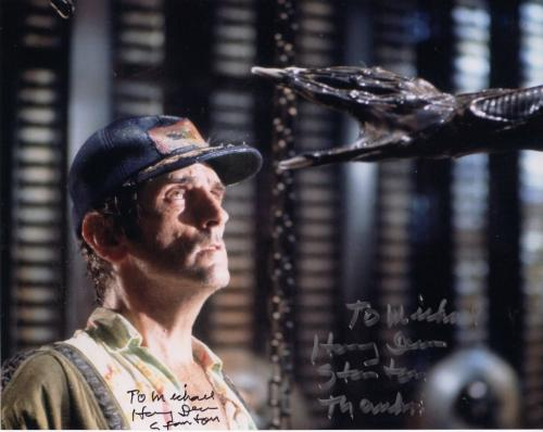 HARRY DEAN STANTON HAND SIGNED 8x10 COLOR PHOTO+COA     ALIEN    TO MICHAEL