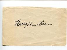 Harry Elmer Barnes American Historian Author Signed Autograph