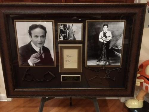 "Harry Houdini ""Autographed"" (JSA) Framed Shadowbox (1921)"