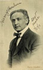Harry Houdini Autographed Signed 2.5x4 Postcard Photograph Beckett BAS