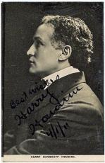 Harry Houdini Signed Autographed 1911 Handcuff Photograph JSA Authentic