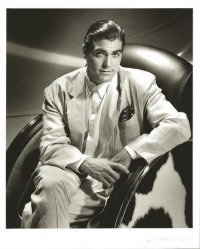 Harry Langdon Signed 1989 George Clooney 8x10 Photo