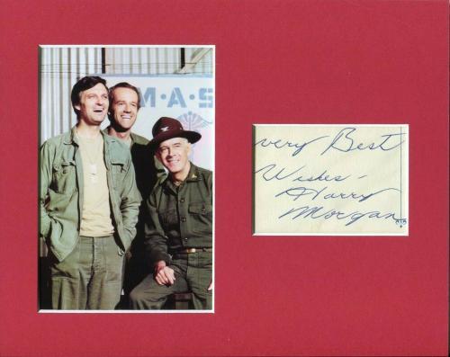 Harry Morgan Mash Col. Sherman T. Potter Rare Signed Autograph Photo Display