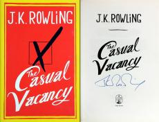 Harry Potter Author J.K. Rowling Signed Casual Vacancy Book w PPC COA & JK Holo