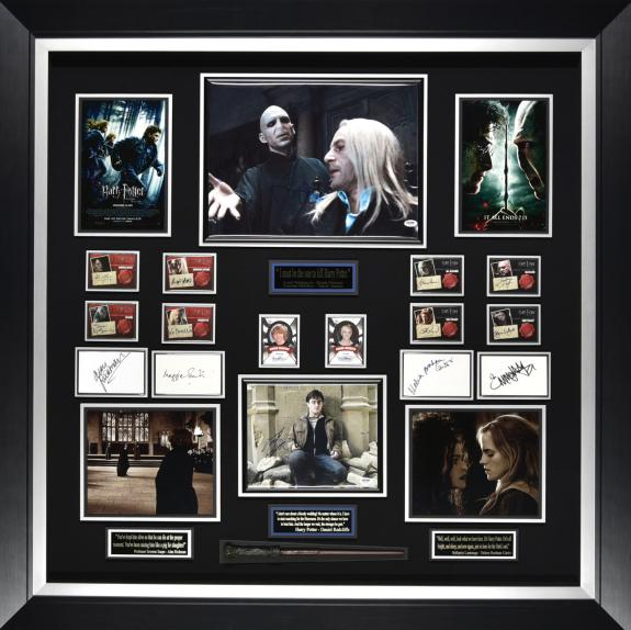 Harry Potter card collection signed by cast Framed 49x49x3