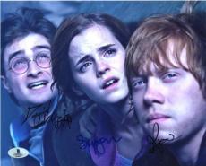 Harry Potter Cast Autographed Signed 8x10 Photo Beckett BAS COA LOA