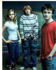 Harry Potter Cast x3 Autographed Signed 8x10 Photo UACC RD AFTAL