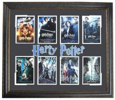 Harry Potter Custom Framed 8 Movie Cover Photo 32x37 Display RARE Rowling