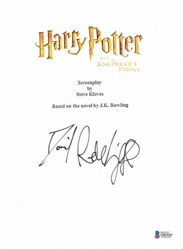 Harry Potter Daniel Radcliffe Signed Sorcerers Stone Full Script Screenplay Bas