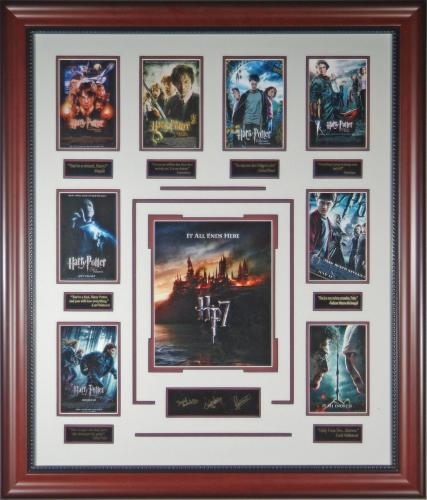 Harry Potter Deathly Hallows Laser Engraved Autograph Collection