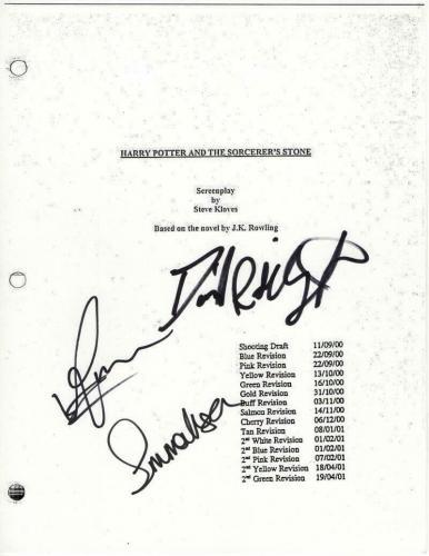 Harry Potter Full Cast Signed Autograph Movie Script - Emma Watson, Radcliffe +1
