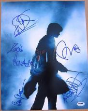 Harry Potter signed 11x14 Cast photo Daniel Radcilffe + 4 sigs PSA/DNA autograph