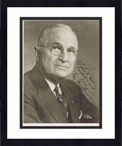 Harry Truman PRESIDENT Signed 8x10 Photo Autograph to john martin 1959 JSA COA