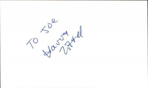 "HARRY ZITTEL THE BOUNTY HUNTER Signed 3""x5"" Index Card"