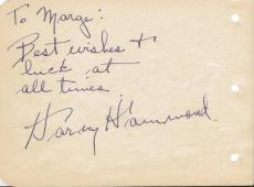 Harvey Hammond + 1 Signed Vintage Album Page Century Theatre