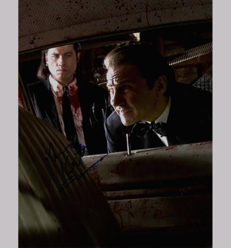 Harvey Keitel Pulp Fiction Bloody Car Signed 11x14 Photo AFTAL UACC RD