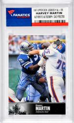 Harvey Martin Dallas Cowboys Autographed 1997 Upper Deck Legends #AL-135 Card