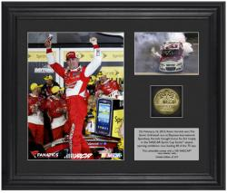 Kevin Harvick 2013 Sprint Unlimited at Daytona Race Winner Framed Photo Collage with Plate and Gold Coin - Mounted Memories