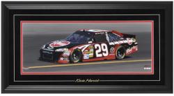 Kevin Harvick Framed Mini Panoramic with Facsimile Signature - Mounted Memories