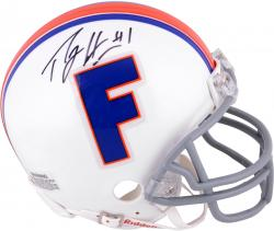 Percy Harvin Florida Gators Autographed Throwback Riddell Mini Helmet