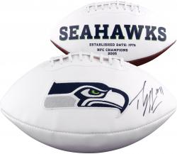 Percy Harvin Seattle Seahawks Fanatics Authentic Autographed Logo Football