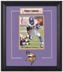 Minnesota Vikings Percy Harvin Framed Photo and Plate - Mounted Memories