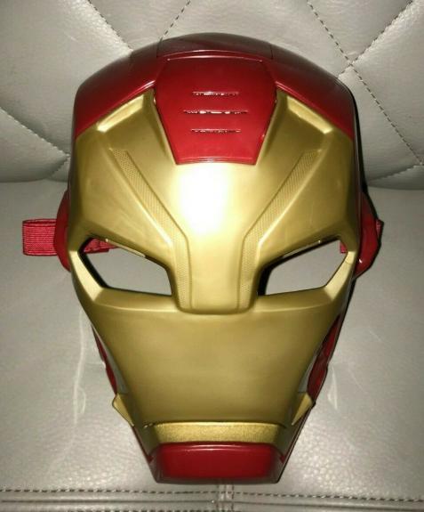 Hasbro Marvel Youth Iron Man Super Hero Talking Mask Helmet Halloween (tested)a+