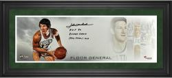 John Havlicek Boston Celtics Framed Autographed 10'' x 30'' Floor General Photograph with Multiple Inscription-Limited Edition of 12 - Mounted Memories