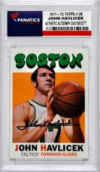 HAVLICEK, JOHN AUTO (1971-72 TOPPS 3 35) CARD - Mounted Memories