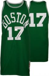 John Havlicek Boston Celtics Autographed Green Jersey with 8X Champ Inscription