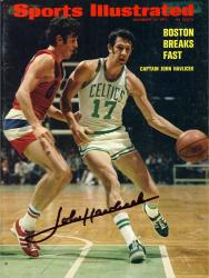 John Havlicek Boston Celtics Autographed Boston Breaks Fast Sports Illustrated