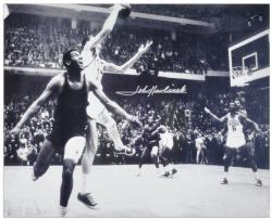"John Havlicek Boston Celtics Autographed 16"" x 20"" Jumping Photograph"