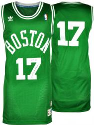 John Havlicek Boston Celtics Autographed Green Swingman Jersey with HOF 84 Inscription - Mounted Memories