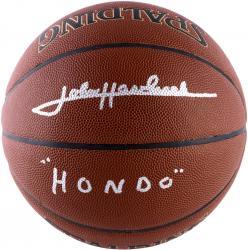 John Havlicek Boston Celtics Autographed Spalding Indoor/Outdoor Basketball with Hondo Inscription