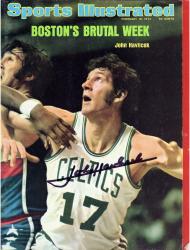 John Havlicek Boston Celtics Autographed Takes It On the Run Sports Illustrated