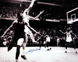 "NBA Boston Celtics John Havlicek Autographed 16"" x 20"" Photo - Mounted Memories"
