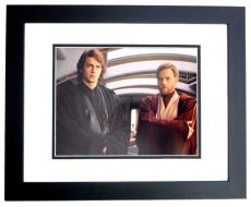 Hayden Christensen and Ewan McGregor Signed - Autographed STAR WARS 11x14 inch Photo BLACK CUSTOM FRAME - Guaranteed to pass PSA or JSA
