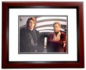 Hayden Christensen and Ewan McGregor Signed - Autographed STAR WARS 11x14 inch Photo MAHOGANY CUSTOM FRAME - Guaranteed to pass PSA or JSA